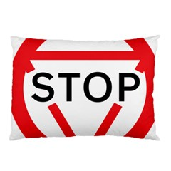 Stop Sign Pillow Case (two Sides)