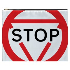 Stop Sign Cosmetic Bag (xxxl)