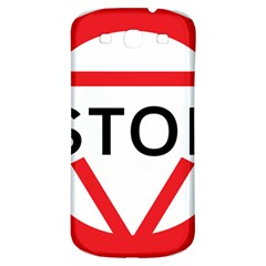 Stop Sign Samsung Galaxy S3 S Iii Classic Hardshell Back Case by Alisyart