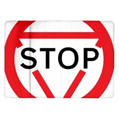 Stop Sign Samsung Galaxy Tab 10 1  P7500 Flip Case