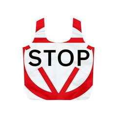 Stop Sign Full Print Recycle Bags (s)  by Alisyart