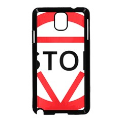 Stop Sign Samsung Galaxy Note 3 Neo Hardshell Case (black)