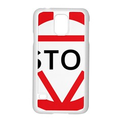 Stop Sign Samsung Galaxy S5 Case (white)