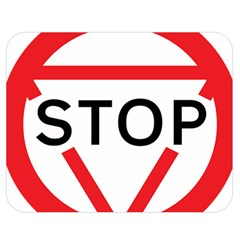 Stop Sign Double Sided Flano Blanket (medium)  by Alisyart