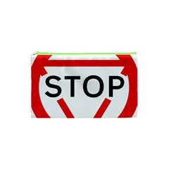 Stop Sign Cosmetic Bag (xs)