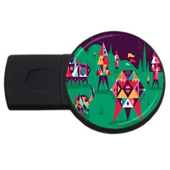 Studio Crafts Unique Visual  Projects Usb Flash Drive Round (4 Gb)
