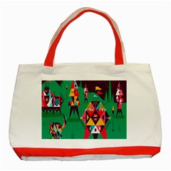 Studio Crafts Unique Visual  Projects Classic Tote Bag (red)