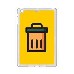 Trash Bin Icon Yellow Ipad Mini 2 Enamel Coated Cases