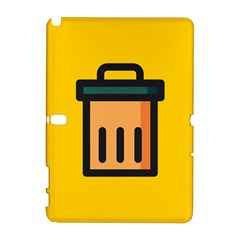 Trash Bin Icon Yellow Galaxy Note 1 by Alisyart