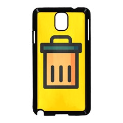 Trash Bin Icon Yellow Samsung Galaxy Note 3 Neo Hardshell Case (black)