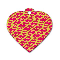 Typeface Variety Postcards Unique Illustration Yellow Red Dog Tag Heart (one Side) by Alisyart