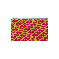Typeface Variety Postcards Unique Illustration Yellow Red Cosmetic Bag (small)