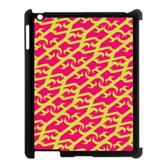 Typeface Variety Postcards Unique Illustration Yellow Red Apple Ipad 3/4 Case (black)