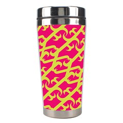 Typeface Variety Postcards Unique Illustration Yellow Red Stainless Steel Travel Tumblers by Alisyart
