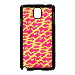 Typeface Variety Postcards Unique Illustration Yellow Red Samsung Galaxy Note 3 Neo Hardshell Case (black)