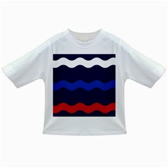 Wave Line Waves Blue White Red Flag Infant/toddler T Shirts by Alisyart