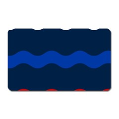 Wave Line Waves Blue White Red Flag Magnet (rectangular) by Alisyart