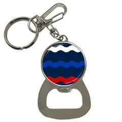 Wave Line Waves Blue White Red Flag Button Necklaces
