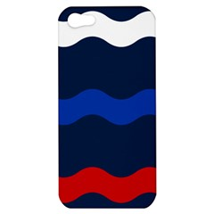 Wave Line Waves Blue White Red Flag Apple Iphone 5 Hardshell Case by Alisyart