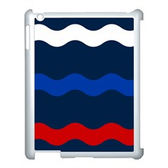 Wave Line Waves Blue White Red Flag Apple Ipad 3/4 Case (white)