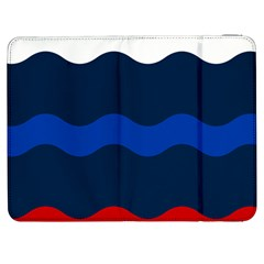 Wave Line Waves Blue White Red Flag Samsung Galaxy Tab 7  P1000 Flip Case