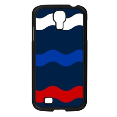 Wave Line Waves Blue White Red Flag Samsung Galaxy S4 I9500/ I9505 Case (black) by Alisyart