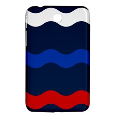 Wave Line Waves Blue White Red Flag Samsung Galaxy Tab 3 (7 ) P3200 Hardshell Case  by Alisyart