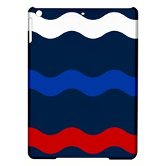 Wave Line Waves Blue White Red Flag Ipad Air Hardshell Cases by Alisyart