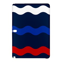 Wave Line Waves Blue White Red Flag Samsung Galaxy Tab Pro 10 1 Hardshell Case by Alisyart