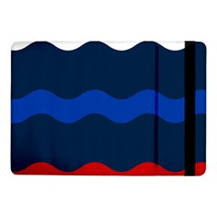 Wave Line Waves Blue White Red Flag Samsung Galaxy Tab Pro 10 1  Flip Case