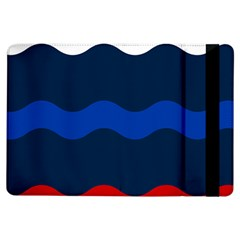 Wave Line Waves Blue White Red Flag Ipad Air Flip by Alisyart