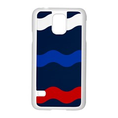 Wave Line Waves Blue White Red Flag Samsung Galaxy S5 Case (white)