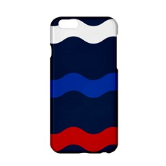 Wave Line Waves Blue White Red Flag Apple Iphone 6/6s Hardshell Case
