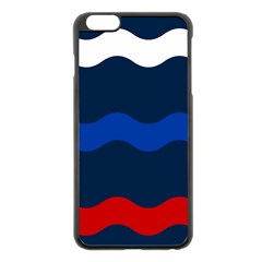 Wave Line Waves Blue White Red Flag Apple Iphone 6 Plus/6s Plus Black Enamel Case by Alisyart