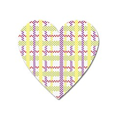 Webbing Plaid Color Heart Magnet by Alisyart
