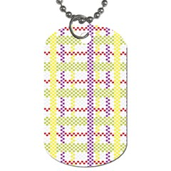 Webbing Plaid Color Dog Tag (two Sides) by Alisyart