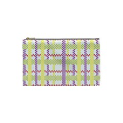 Webbing Plaid Color Cosmetic Bag (small)