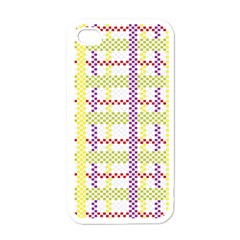 Webbing Plaid Color Apple Iphone 4 Case (white) by Alisyart