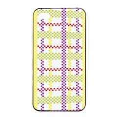 Webbing Plaid Color Apple Iphone 4/4s Seamless Case (black) by Alisyart