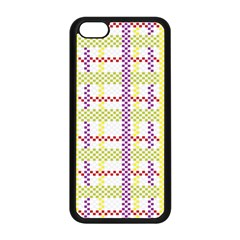 Webbing Plaid Color Apple Iphone 5c Seamless Case (black)