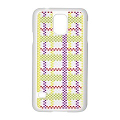 Webbing Plaid Color Samsung Galaxy S5 Case (white)