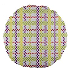 Webbing Plaid Color Large 18  Premium Flano Round Cushions by Alisyart