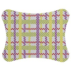 Webbing Plaid Color Jigsaw Puzzle Photo Stand (bow)
