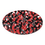 Spot Camuflase Red Black Oval Magnet Front