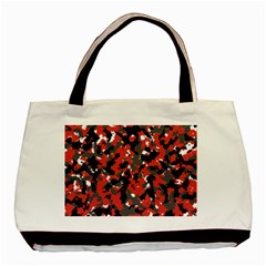 Spot Camuflase Red Black Basic Tote Bag (two Sides) by Alisyart