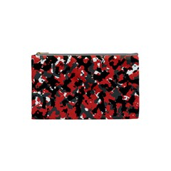 Spot Camuflase Red Black Cosmetic Bag (small)