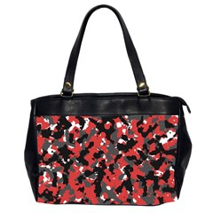 Spot Camuflase Red Black Office Handbags (2 Sides)