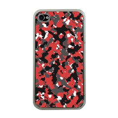 Spot Camuflase Red Black Apple Iphone 4 Case (clear) by Alisyart