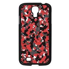 Spot Camuflase Red Black Samsung Galaxy S4 I9500/ I9505 Case (black) by Alisyart