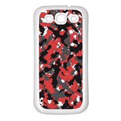 Spot Camuflase Red Black Samsung Galaxy S3 Back Case (white) by Alisyart